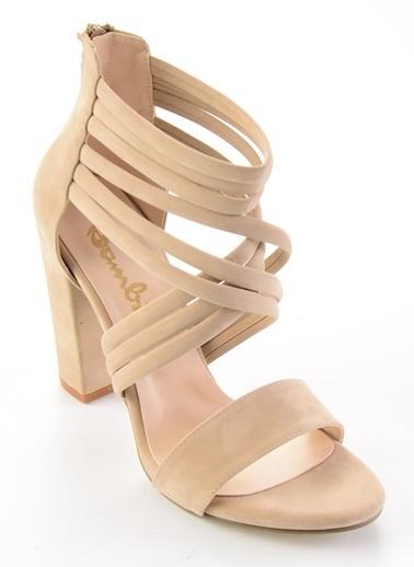Bambi Topuklu Ayakkabı Taş